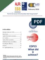 Solar Progress, February 2010 ~ Australian and New Zealnad Solar Energy Society