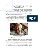 Julius Nyerere and the Catholic church