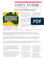 newspaper article - nationalism