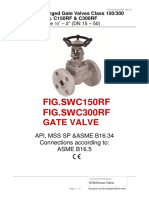 Forged Gate Valve Class 150 & 300 RF