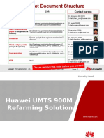 Huawei UMTS 900M Refarming Solution V1[1].0(20090911)