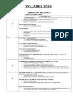 Syllabus Oficial Secundaria