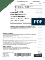 June 2014 (R) QP - C2 Edexcel