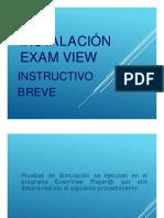 Instructivo Breve - Exam View