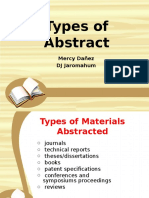 Types of Abstract
