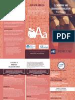 education pathway brochure