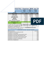 Acr Lifestyle Price Sheet