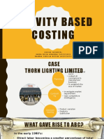 Activity Based Costing Managerial