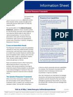 FEMA_2013_National Response Framework Information Sheet