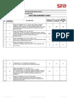 Joint Measurement Sheet