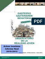 Observatorio del Plan Joven - Informe final 2010-2012
