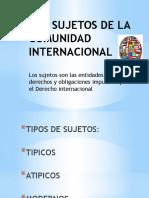 Los Sujetos de La Comunidad Internacional