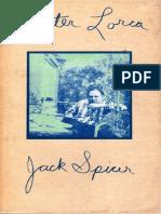 After Lorca Jack Spicer