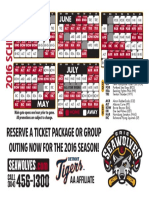 2016 Erie SeaWolves schedule