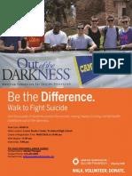Suicide Prevention Walk Flier