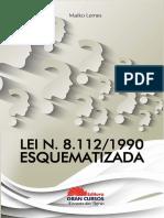lei 8112-1990 esquematizada