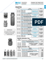 Gases Refrigerantes Tarifa PVP SalvadorEscoda