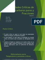 Propiedades Críticas de Hidrocarburos Puros y Fracciones Gg