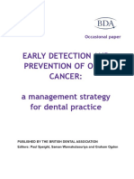Early Detection of Oral Cancer