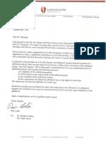 sabbatical award letter
