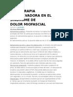 FISIOTERAPIA CONSERVADORA EN EL SÍNDROME DE DOLORMIOFASCIAL
