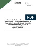 Lineamiento Introducción Vacuna Vopb