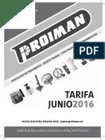 201606 Proiman Tarifa Junio 2016