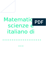 12 pagine di matematica italiano e scienze