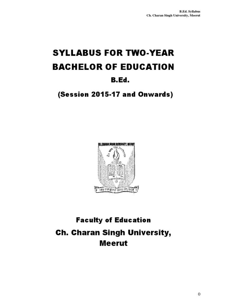 Bed syllabus 2016 17 inclusion education curriculum malvernweather Choice Image