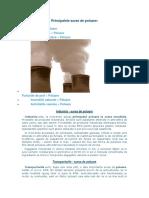 Principalele Surse de Poluare