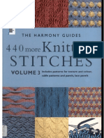 Harmony Guides - Volume 3 - 440 More Knitting Stitches
