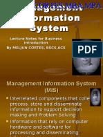 MELJUN CORTES - MIS (Management Information System)