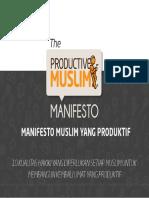 ProductiveMuslim Manifesto Indonesian