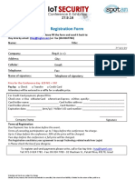 Registration Form for Participant IoT Cyber Security