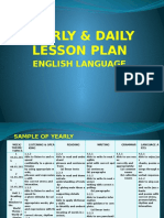 Yearly & Daily Lesson Plan for English Language