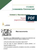 Economía Gerencial Unidad 2 Macroeconomía