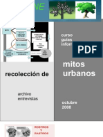 Mitos Urbanos:Memória y Patrimonio .Lic.Soccorso Volpe