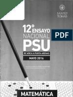12º Ensayo Nacional Psu Matematica
