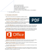 Introducción a Microsoft Word 2013