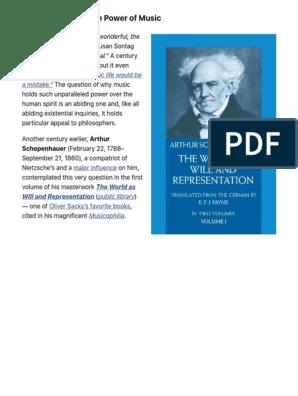 Schopenhauer on the Power of Music – Brain Pickings | Arthur