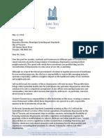 Mayor's Letter Re Marijuana Dispensaries - May 12