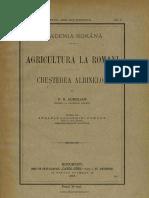 Agricultura La Romani - Cresterea Albinelor - P. S. Aurelian (1905)