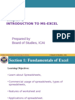Unit 4 MS Excel Chapter 1