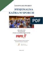 Publikacja Profesjonalna Kadra w Sporcie 15 10 2015