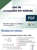 PUC FUND 20 Recalques de Estacas GOAIAS puc