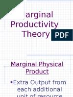 Ch 27 a Marginal Productivity