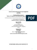 Internship Affiliation ReportT on Business Development of IEL