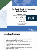 109 Eradication and Control Programs Guinea Worm FINAL