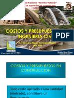 01. Introducción a Los Costos y Presupuestos