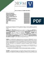 Minuta de Contrato a Término Indefinido.